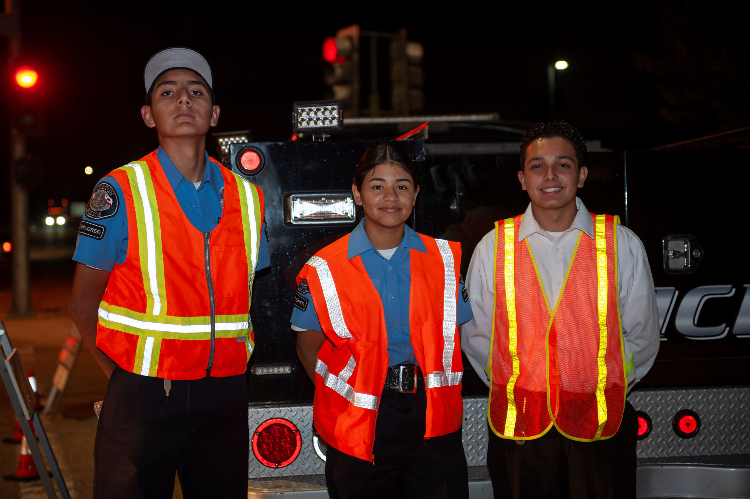 Explorers at DUI Checkpoint